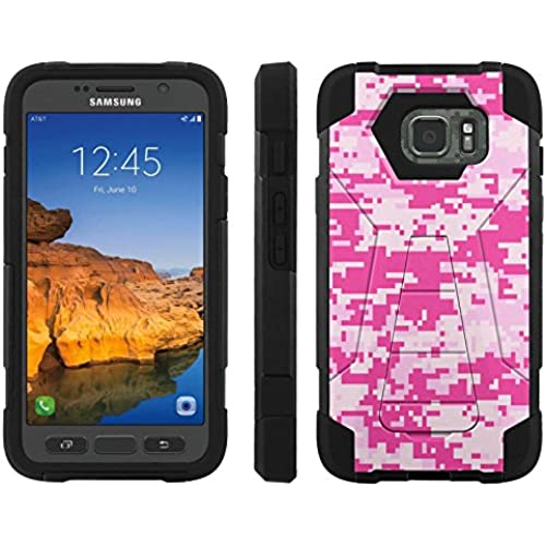 AT&T [Galaxy S7 Active] ShockProof Case [ArmorXtreme] [Black/Black] Hybrid Defender [Kickstand] - [Urban Camo Pink] for Samsung Galaxy [S7 Active] Sales