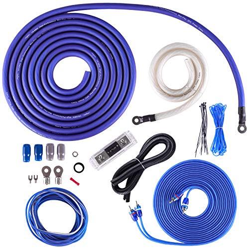 - Skar Audio 1/0 Gauge OFC Complete Amplifier Installation Wiring Kit, SKAR0ANL-OFC