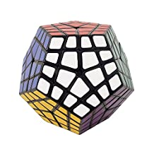 I-xun® Perfect Magic Cube Smooth Dodecahedron Cube Megaminx Cube Black (4x4)