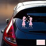 Autotattoo Heckscheibenaufkleber Fahrzeug Sticker Aufkleber Baby Schneekönigin Frozen Kinder M1872 - ausgewählte Farbe: *hellrosa* ausgewählte Größe: *M - 18cm breit x 25cm hoch*