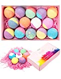 anjou 14 packs bath bombs gift set,perfect for bubble bath, fizzy spa, moisturizing with scented