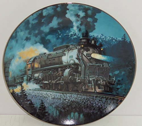 (Train Plate Knowles Collector Overland Limited Romantic Age Steam Engines 1993)