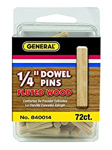 General Tools & Instruments 1/4-Inch Fluted Wood Dowel Pins