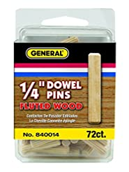 General Tools 840014 1/4-Inch Fluted Woo...