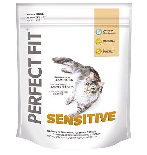Perfect Fit Sensitive Katzenfutter reich an Huhn, 5 Packungen (5 x 750 g)