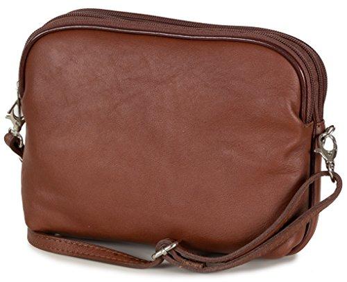 Taschenloft, Borsa a tracolla donna 20 x 16 x 9 cm marrone
