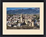 Framed Print of Spain, Basque Country Region, La Rioja Area, Alava Province, Elciego, elevated