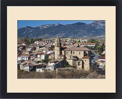 Framed Print of Spain, Basque Country Region, La Rioja Area, Alava Province, Elciego, elevated by Fine Art Storehouse
