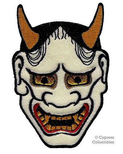 Japonés Hannya máscara parche bordado hierro en Kabuki Demon Oni Noh ...