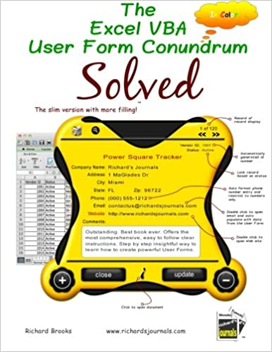 Amazon com: The Excel VBA User Form Conundrum Solved: The