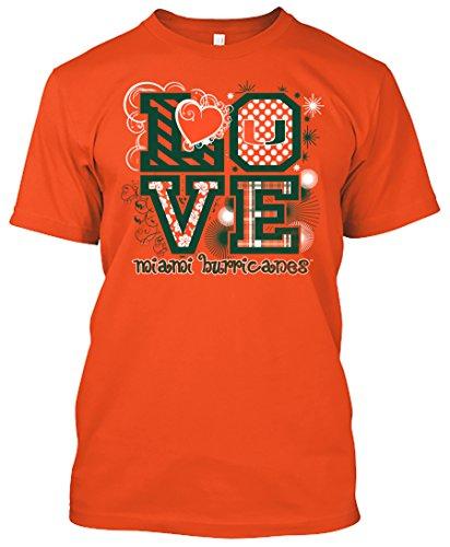 Miami Hurricanes Love T Shirt for Women