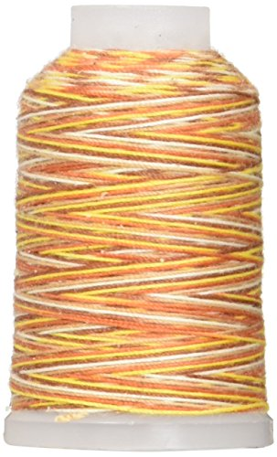 YLI 21503-3VA 30wt T-90 Jeans Stitch Polyester Variegated Thread, 200 yd, Earth (Earth Stitch)