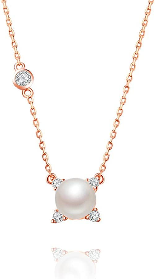 Amazon Com Keeteen Lucky Girl 925 Sterling Silver Pearl Pendant