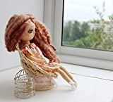 Art doll Vera, Handmade ooak cloth Doll, textile doll, rag doll, interior doll, collectors doll, collectible art doll, Doll with dove
