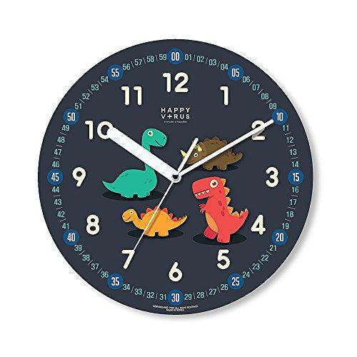 HappyVirus 11.22'' Educational Wall Clock, Children's Time Telling Teacher, Silent Non Ticking Home Decoration (Dinosaur) #2061 by HappyVirus