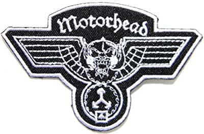 "3.5"" x 2.5""Motorhead Hammered Band Logo Heavy Metal Punk Rock Music Jacket T-shirt Patch Sew Iron on Embroidered Sign Badge music patch by Tourlesjours"