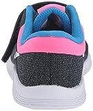 Nike Girls Revolution 4 (TDV) Sneaker, Black/White