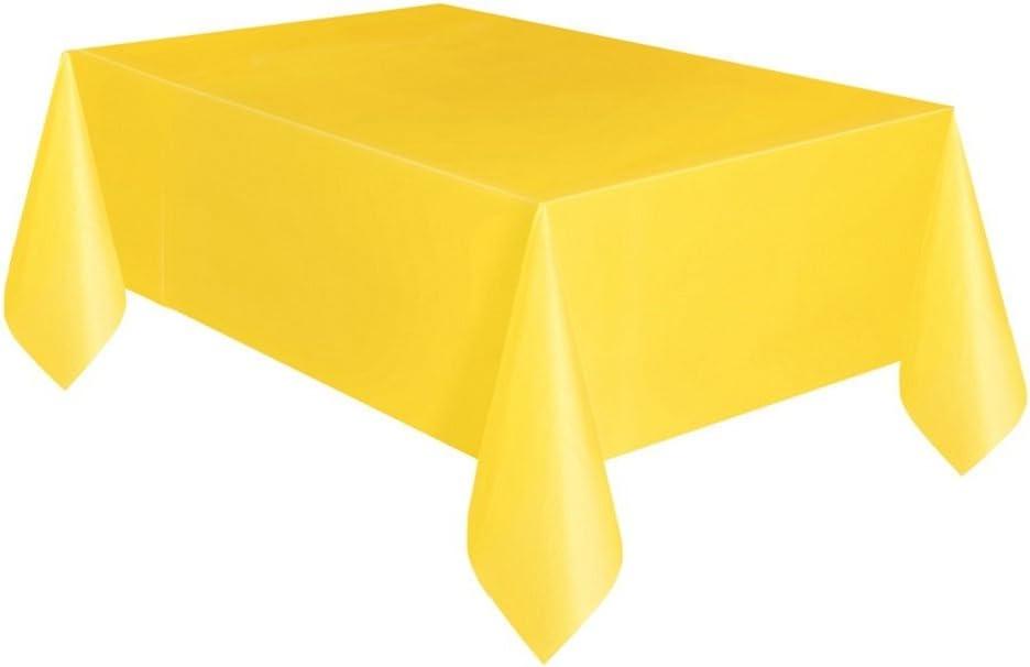 Mantel de plástico, 9 pies x 4.5 pies Compact Amarillo