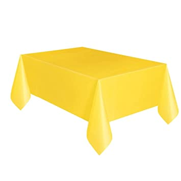 Superior Yellow Plastic Tablecloth, 108u0026quot; ...