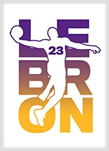 Basketball Sports Athletic Player Fridge Magnet (Lebron #23)
