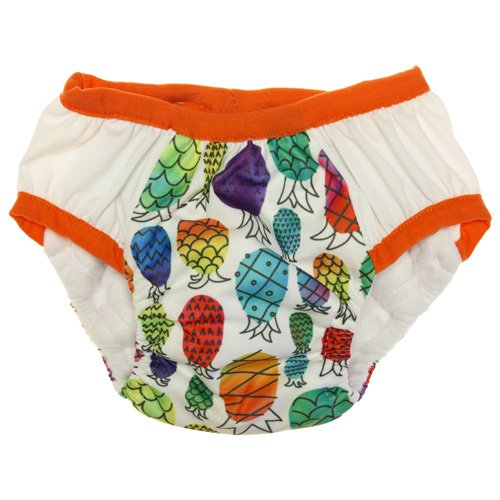 Pants Waterproof Training (Nicki's Diapers Potty Training Pants, Pineapple Paradise, XL(34-45 lbs))