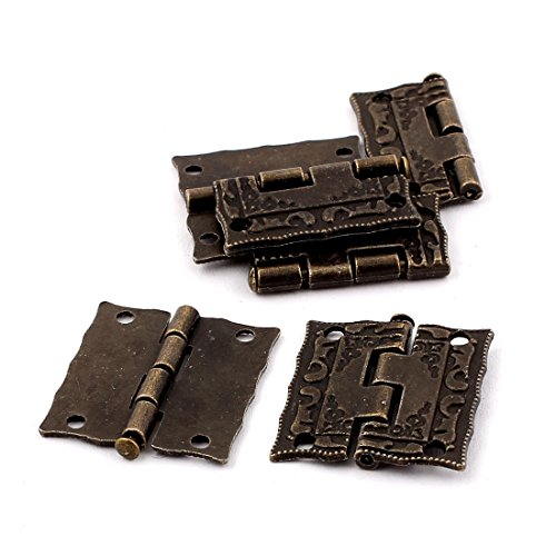 uxcell Case Jewelry Box Antique Style Butt Hinges Bronze Tone 6PCS