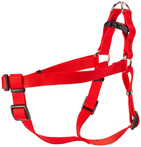 Coastal Pet Products DCP6645RED Nylon Comfort Wrap Adjustable Dog Harness, 3/4-Inch, Red