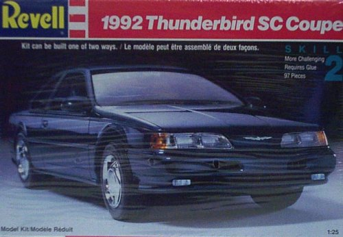 Sc Coupe - Revell 7492 1992 Thunderbird SC Coupe - Plastic Model Kit - 1:25 Scale - Skill Level 2
