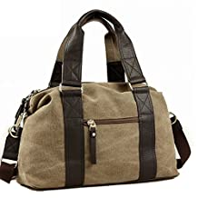 Toupons Fashion Vintage Medium Small Canvas Duffel Bag for Men Women Best Travel Luggage Tote Lightweight Carry on Bags