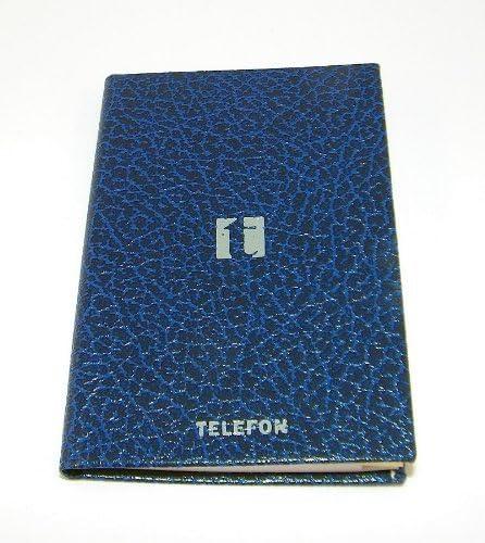 "Arlac - Telefon- und Adressbuch ""Mantova XS"" schwarz/blau 17x12cm"