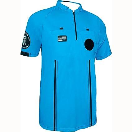 Amazon.com: Nueva fseeuu Men s Pro Azul SS Camisa de ...