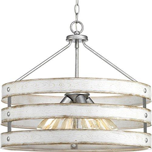 (Progress Lighting P500023-141 Gulliver Four-Light Pendant, Galvanized)