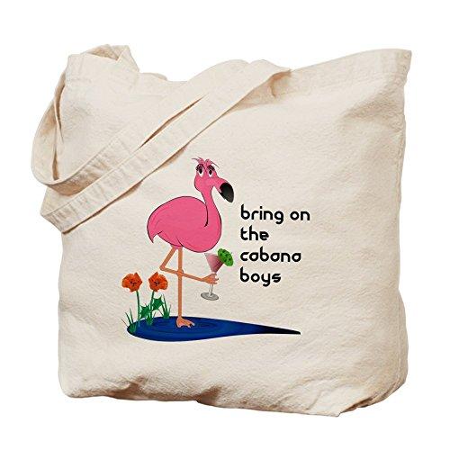 CafePress–Fanny Flamingo Borsa o borsa da spiaggia, Borsa di tela naturale, panno borsa per la spesa