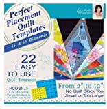 DIME- PERFECT PLACEMENT QUILT TEMPLATES BUNDLE- ((SQUARES & RIGHT TRIANGLES, 45 & 60 DEGREE DIAMONDS, AND CIRCLES & HEXAGONS)) - PPQ00B1