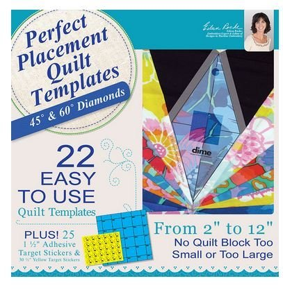DIME- PERFECT PLACEMENT QUILT TEMPLATES BUNDLE- ((SQUARES & RIGHT TRIANGLES, 45 & 60 DEGREE DIAMONDS, AND CIRCLES & HEXAGONS)) - PPQ00B1 by Dime