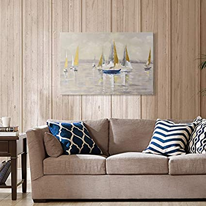 3 Pieces, 16x24 inchx3pcs 7CANVAS Modern Wall Art Abstract Canvas Print Wall Art Decor Wrapped for Living Room Kitchen Bedroom