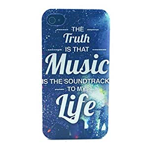 iPhone 4S Case - LUOLNH Fashion Style Colorful Painted music life TPU Silicone Gel Back Cover Protector Skin For iPhone 4 4S