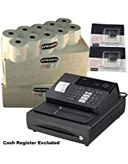 EPOSBITS® Marca 40 Rollos + 2X Tinta para Casio 140CR 140 CR Cash Register