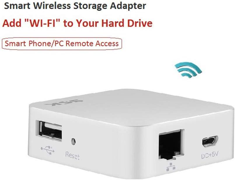Nube WiFi Disco Duro Externo Inteligente Disco Duro Adaptador Personal De Almacenamiento Copia De Seguridad Automática Inalámbrica para Lector De Tarjetas Hub USB HDD PC: Amazon.es: Deportes y aire libre