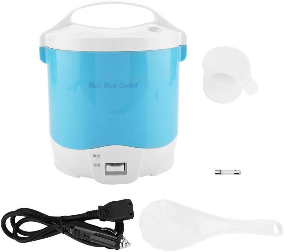 Unibell 24V 180w 1.6L Food Steamer for Cars, Electric Portable Multifunctional Rice Cooker Food Steamer Slow Cooker for Cars for Cars Non-Stick Pan Portable Design