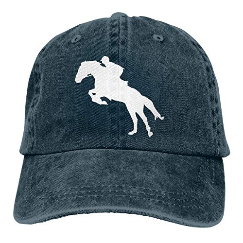 2 Pack Vintage Baseball Cap, Unisex Horse Riding Horse Jumping Adjustable Baseball Hats Dad Hat Navy