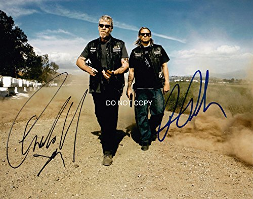 Charlie Hunnam & Ron Perlman reprint signed photo #1 Sons of Anarchy