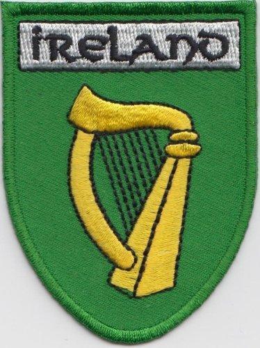 IRELAND IRISH HARP EMBROIDERED PATCH BADGE WITH FREE UK POSTAGE