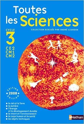 Livres gratuits en ligne TOUTES LES SCIENCES C3 MANUEL epub, pdf