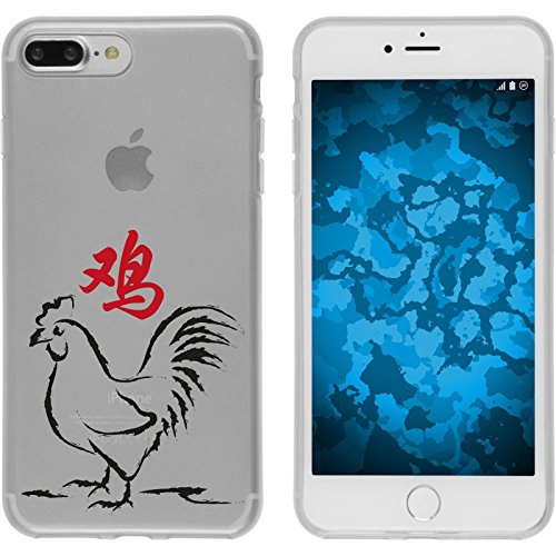 PhoneNatic Apple iPhone 7 Plus Coque en Silicone Chinese Zodiac Motif 10 Case iPhone 7 Plus + films de protection