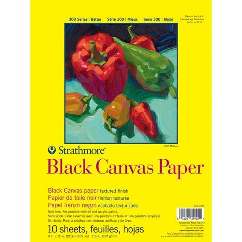 Strathmore STR 310 209 Sheet Black Canvas product image