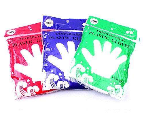 Kingsnow Food Grade High Density Polyethylene Disposable Gloves,One Size fits All,300 Pcs by Kingsnow