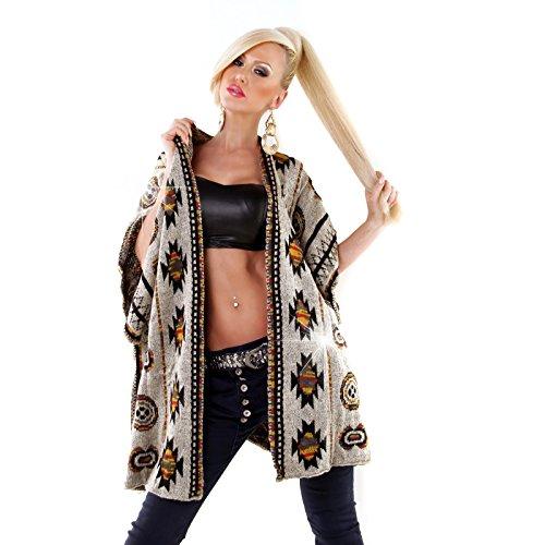 Miss Charm - Chaqueta - para mujer negro y beige