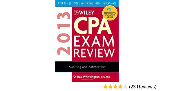 Wiley cpa exam review 2013 auditing and attestation o ray wiley cpa exam review 2013 auditing and attestation o ray whittington 9781118277201 amazon books fandeluxe Gallery