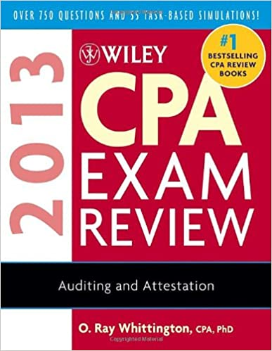 Wiley cpa exam review 2013 auditing and attestation o ray wiley cpa exam review 2013 auditing and attestation 10th edition fandeluxe Choice Image